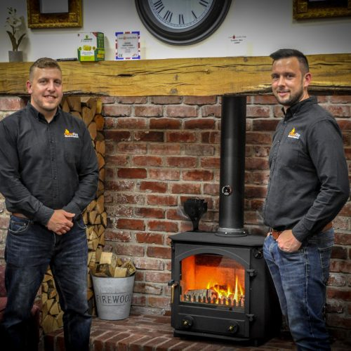 Drew and Team at GlowFires Stoves and Fireplaces in Carmarthen, West Wales