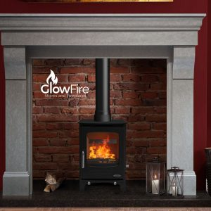 Sherwood 5kw Multi Fuel fire stove, Henley Stoves at Glow Fire Stoves, Carmarthenshire