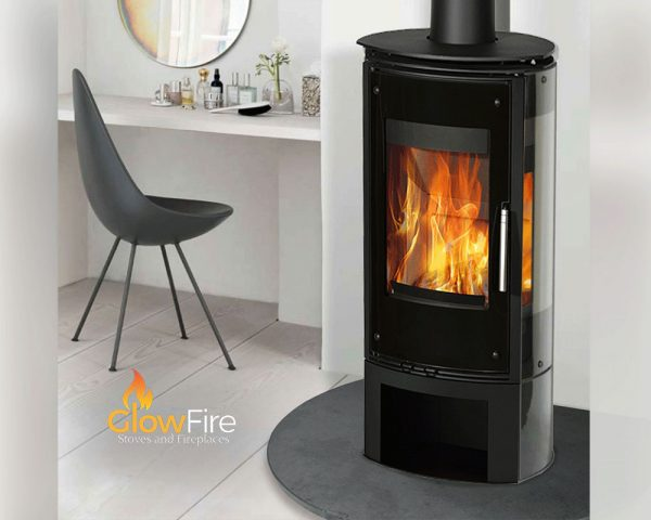 Zanzibar Infinity Glass 5kw Multi Fuel fire stove, Henley Stoves at Glow Fire Stoves, Carmarthenshire