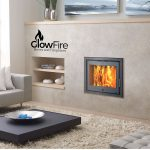 Porto 400 multistove fire at Glowfire Stoves and Fireplaces in Carmarthen, West Wales