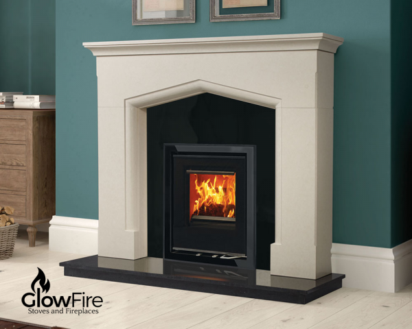 Henley Cedarwood Fire multi fuel stove at Glowfire Stoves and Fireplaces Carmarthen