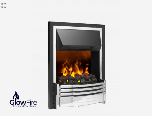 Dimplex Pomona Inset Chrome at Glowfire Stoves and Fireplaces Carmarthen