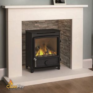 FDC Columbia Balanced Flue Gas Stove at GlowFire Stoves and Fireplaces, Carmarthen